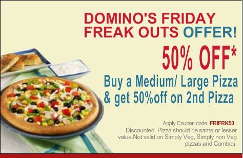 Freaky Friday Dominos Coupon Code
