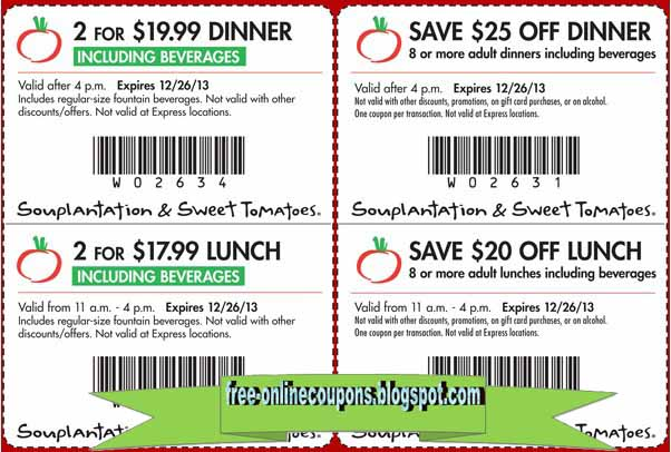 Souplantation Printable Coupons April 2013